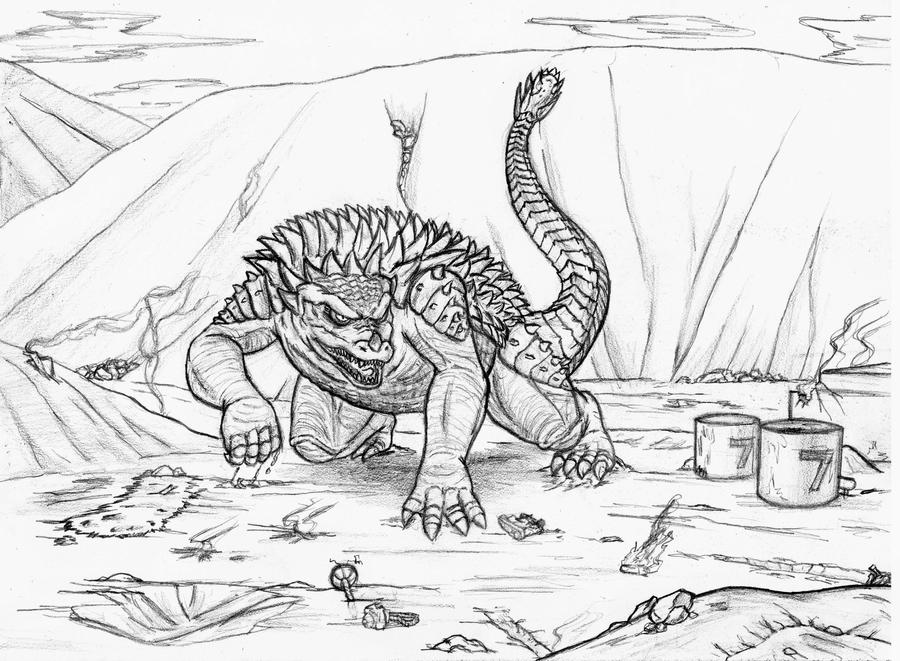 Anguirus by Amrock