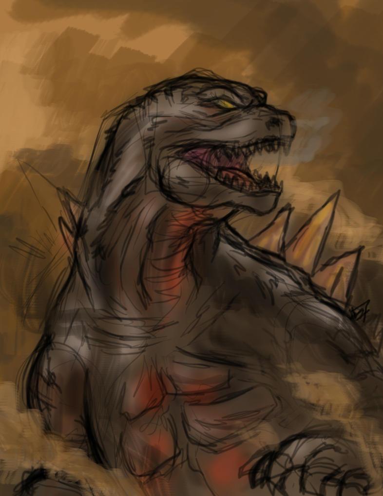 Legendary Godzilla by Amrock