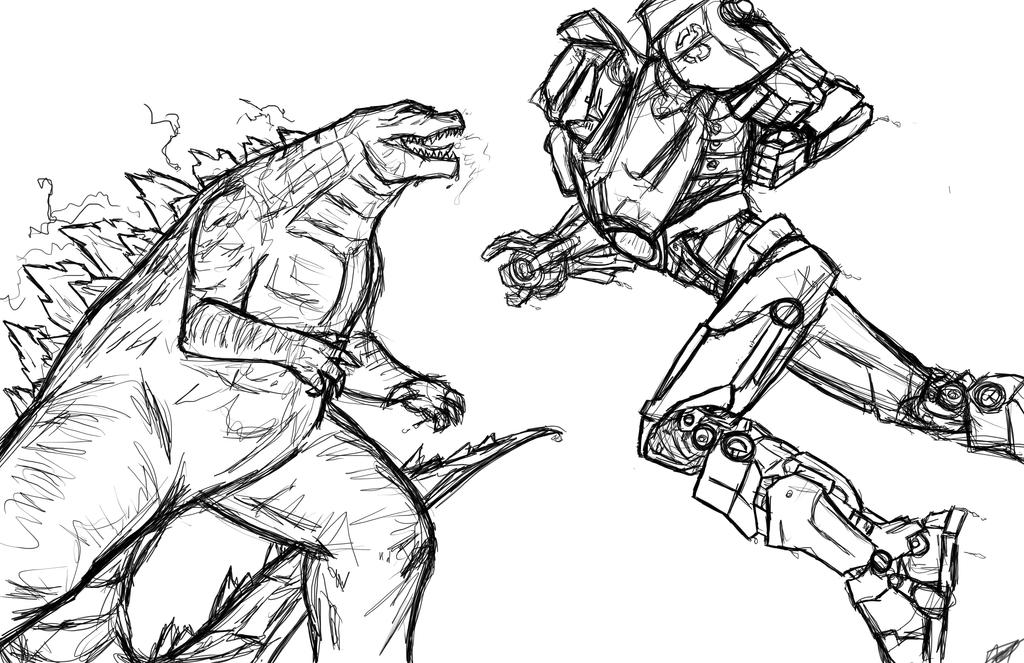 Godzilla vs Gipsy Danger w.i.p by Amrock on DeviantArt