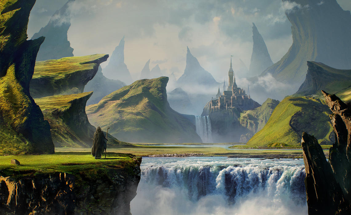 Gothic landscape by Sleax