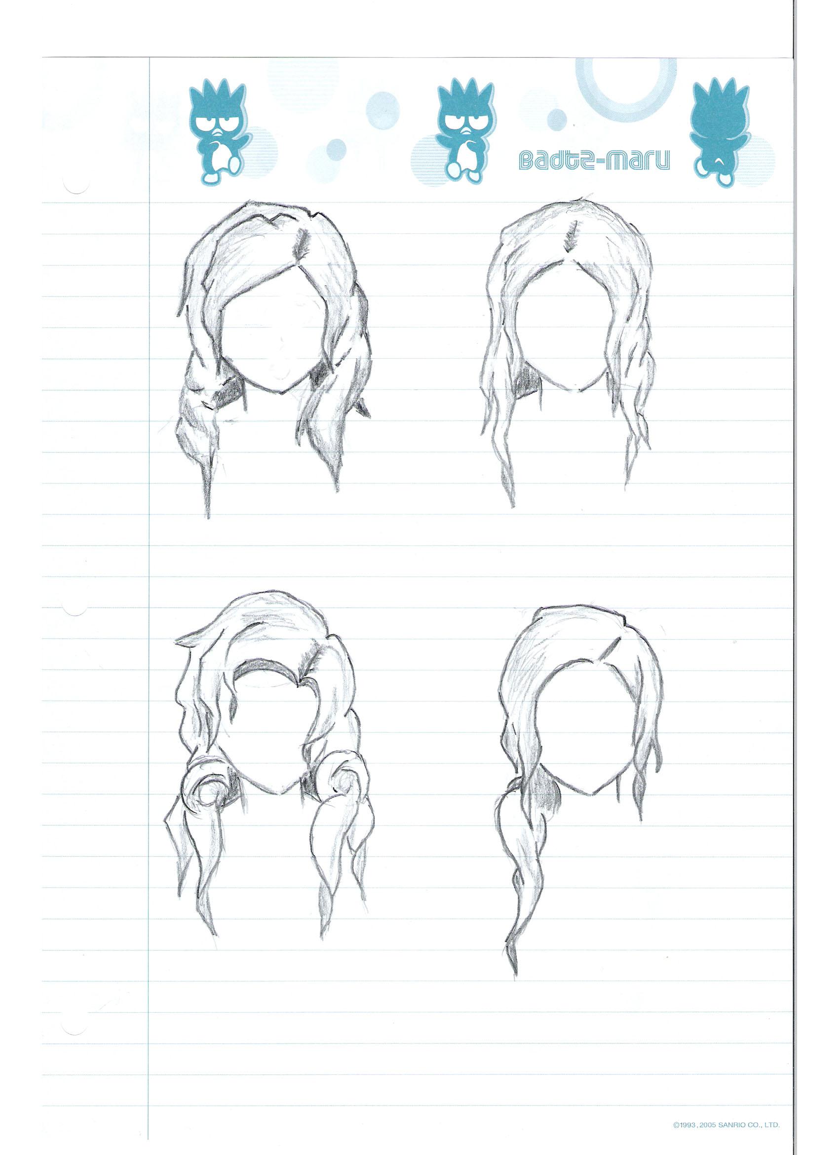 Manga Hair Template 1 by kevin-ke on DeviantArt