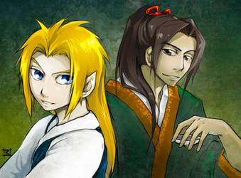 JK: Shouryu and Enki by lorna-ka