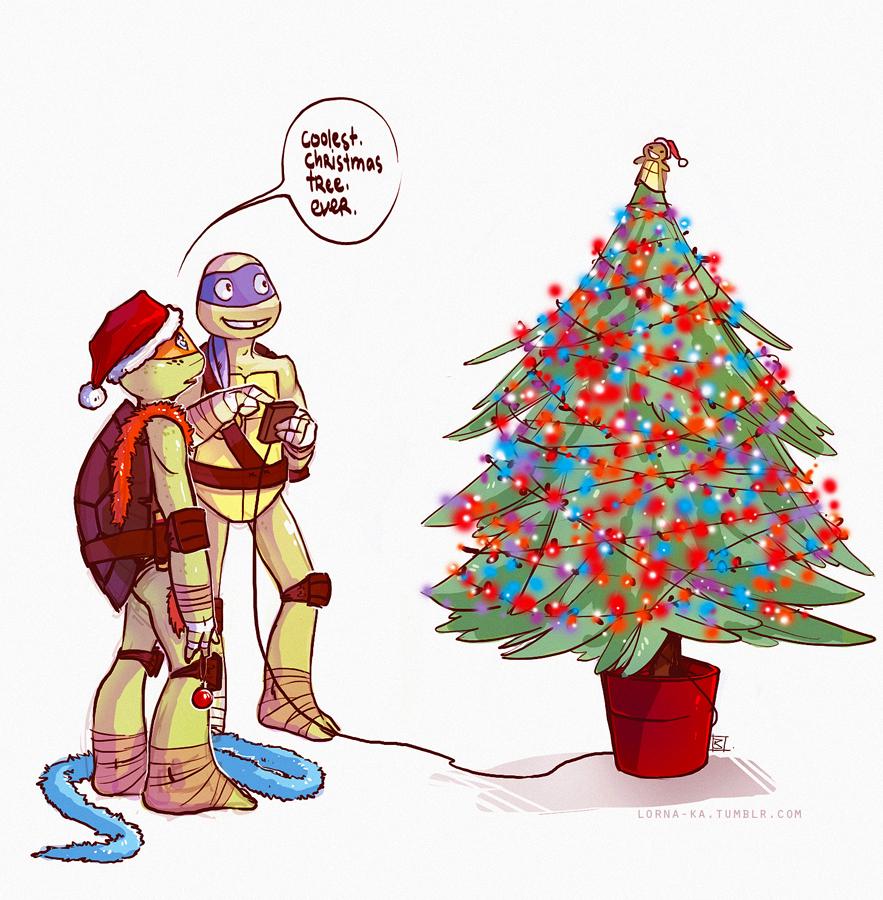 TMNT AC 5 - Christmas tree by lorna-ka