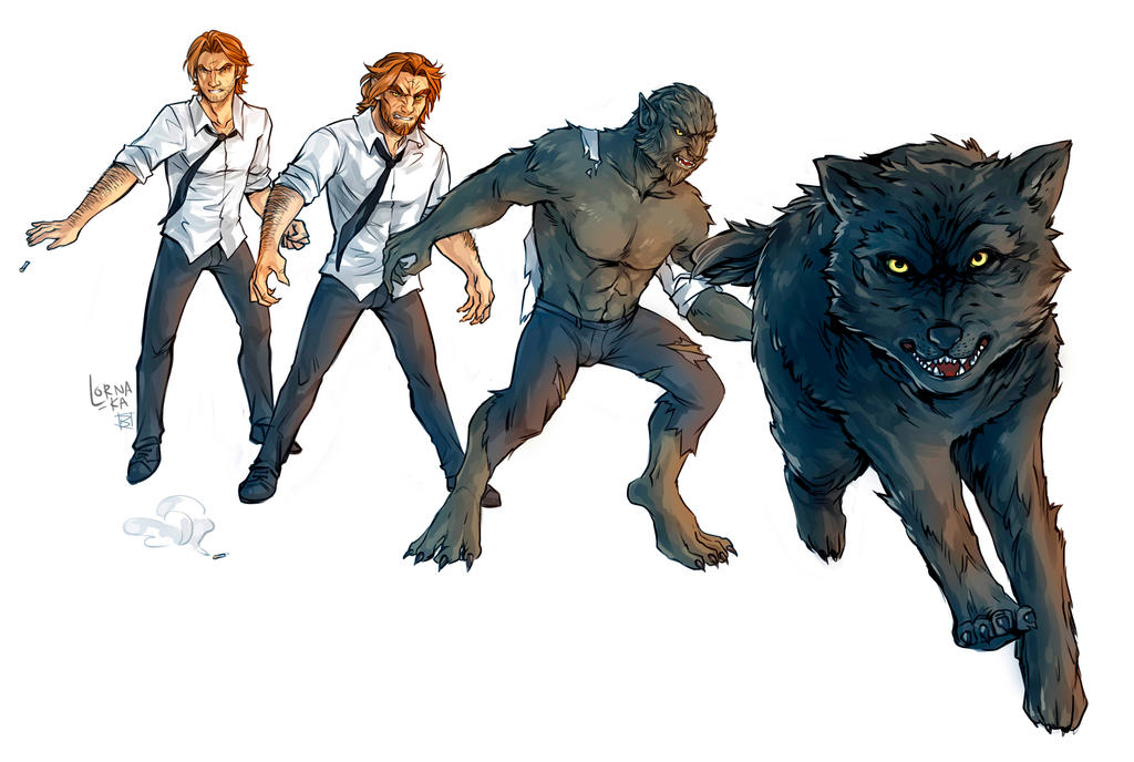 Bigby Wolf - Full Werewolf Form by cweinmanart on DeviantArt