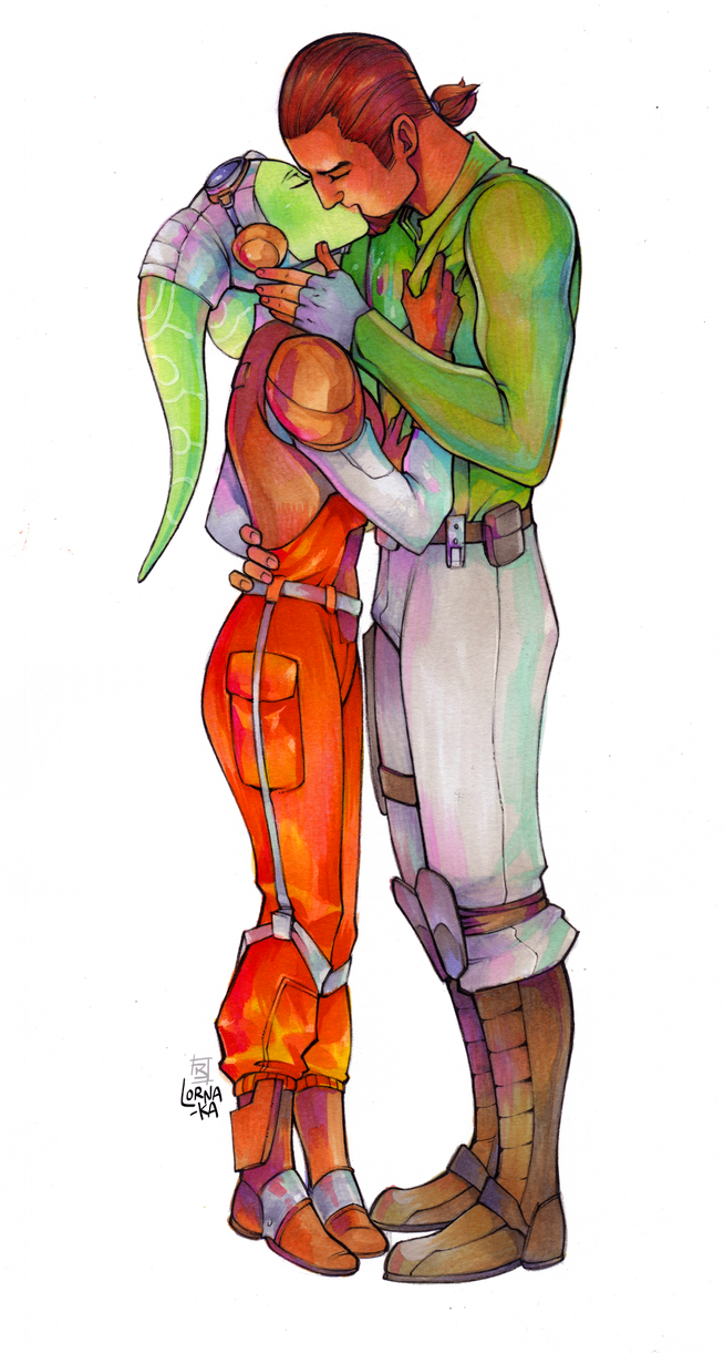 Commission - Kanera kiss by lorna-ka