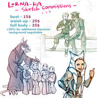 Sketch Commissions Price List