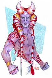 I really like drawing Togrutas by lorna-ka