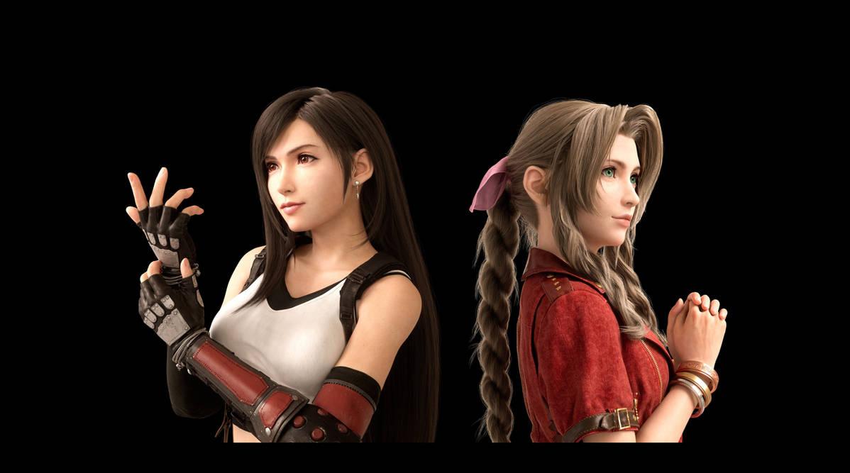 Final Fantasy Vii Hd Wallpaper Tifa And Aerith By Stephenjohnstonart On Deviantart