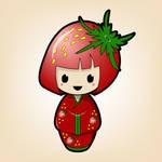 Strawberry Kokeshi Doll