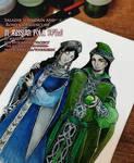 Salazar and Rowena in Russian Folk Style by Aquamirral