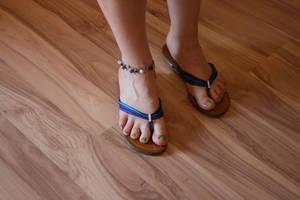 New shoes and nail polish