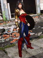 DC Trinity : Wonder Woman by Le-Arc-7thHeaven