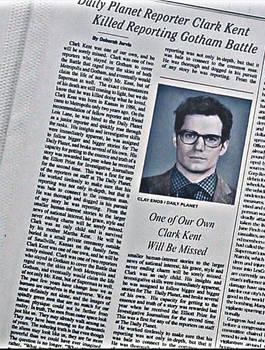 Clark Kent BvS Obituary (Some Bio spoiler)