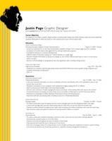 Resume Page One by JustinRampage