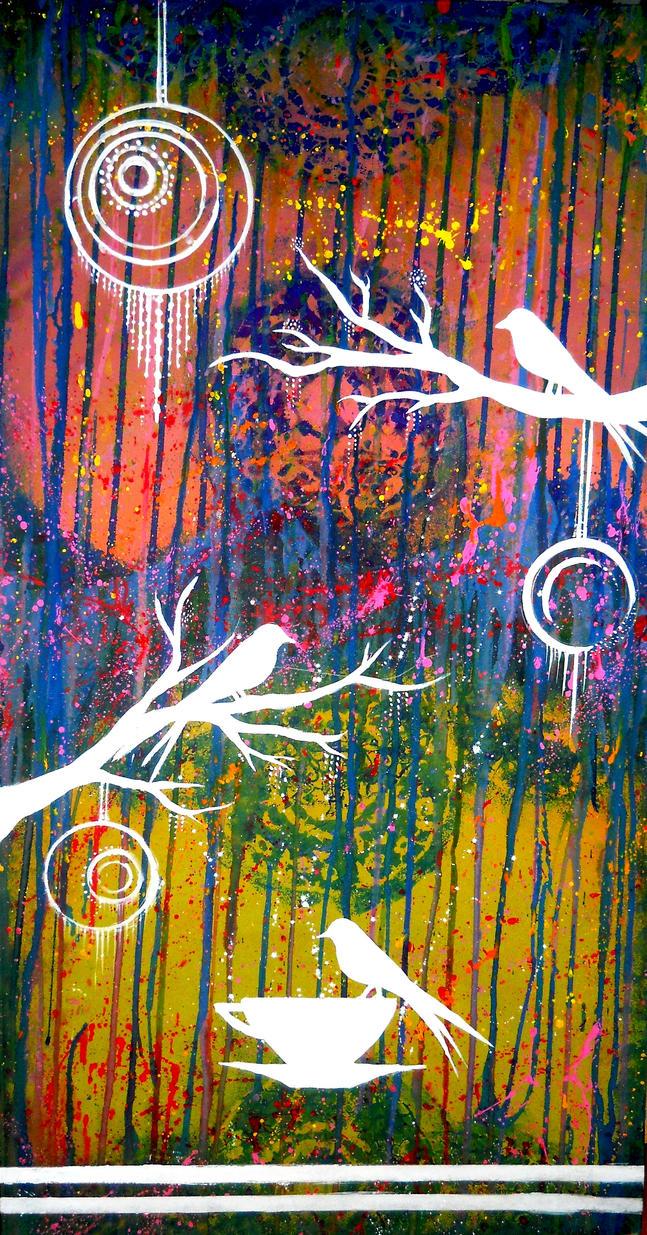 Three little birds by AniDandelion