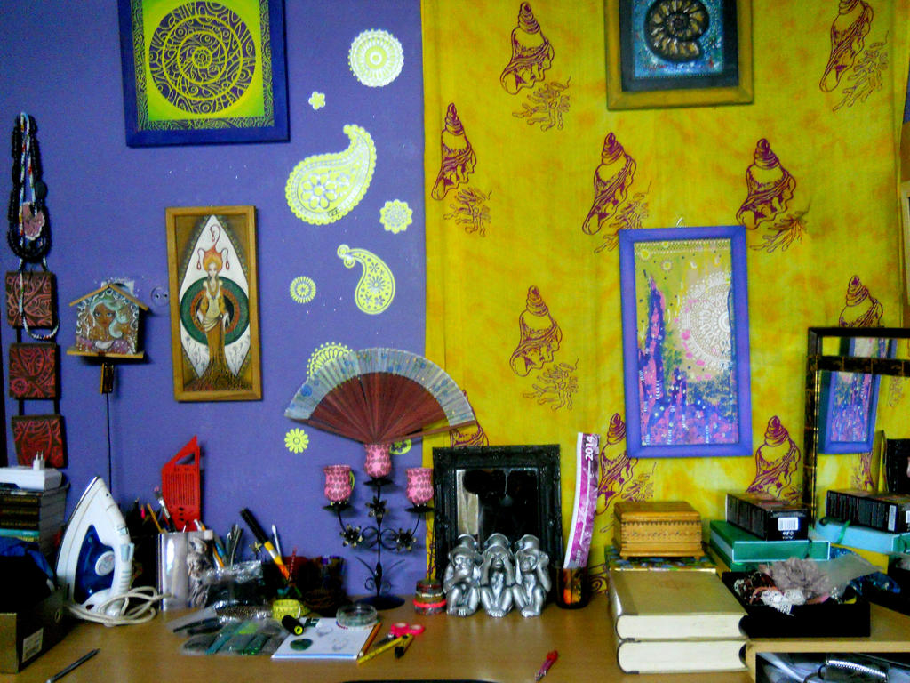 One side of my colorful room by AniDandelion