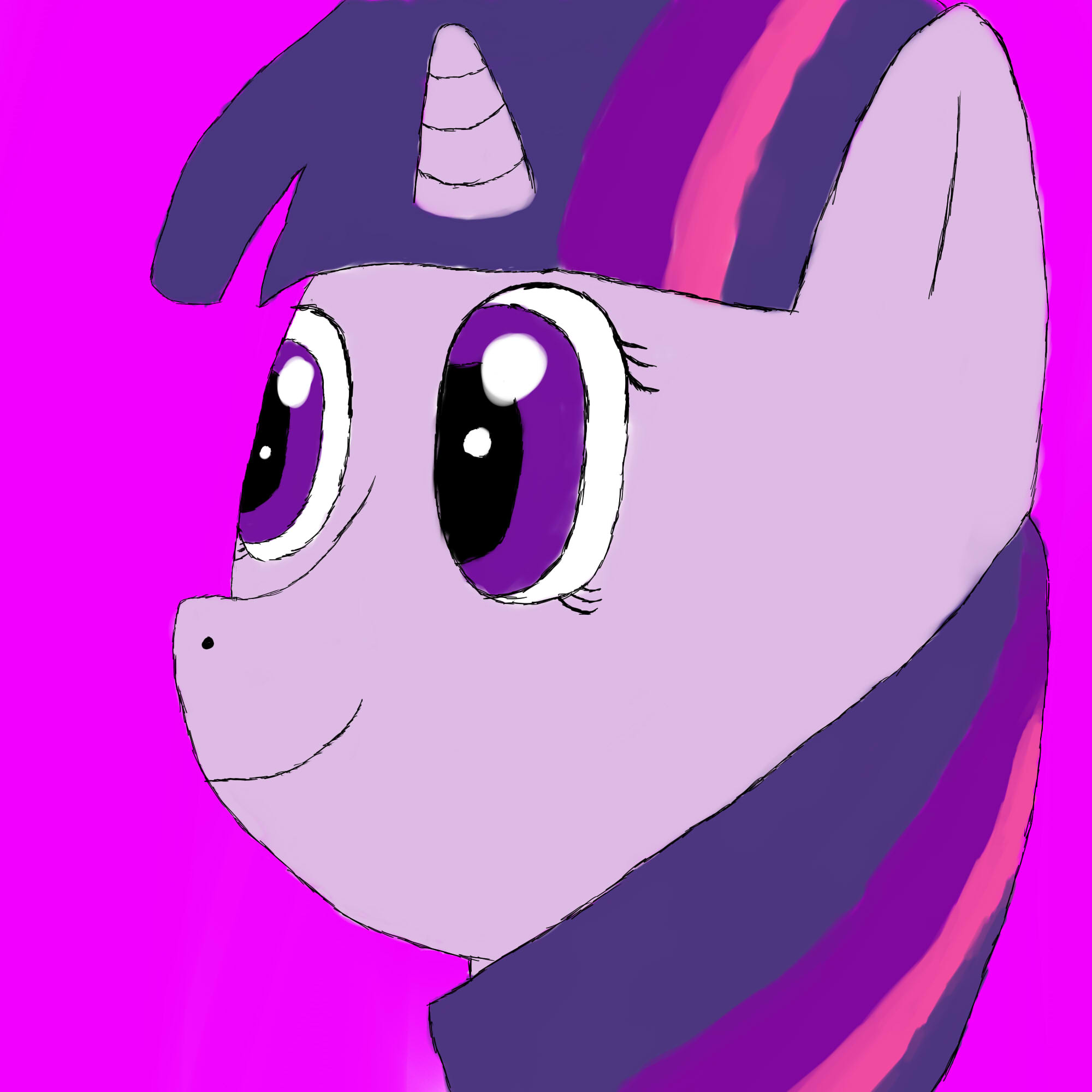 Twilight Sparkle portrait by Wolfy-Pony
