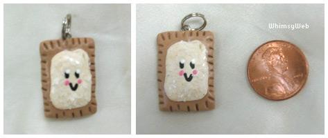 Kawaii Vanilla Poptart Charm by WhimsyWeb