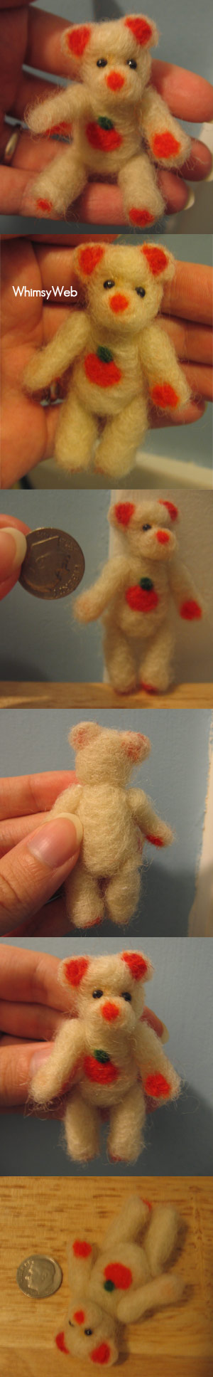 Needle felted mini autumn bear by WhimsyWeb