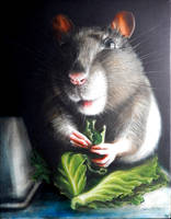 Uminum mouse - oil painting on canvas, 40cmx50cm by SimonaHunter