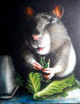 Uminum mouse - oil painting on canvas, 40cmx50cm