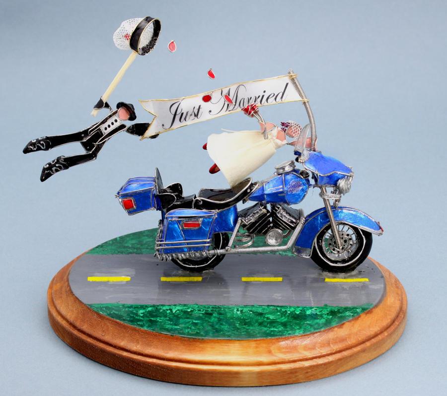 Custom Motorcycle Cake Topper