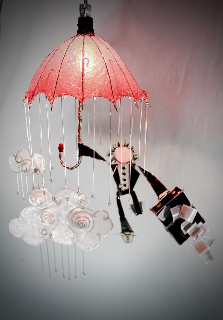 Hanging Umbrella and Rain Lamp by stillifewithshadow