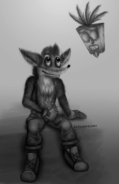 Crash Bandicoot by ROGUEKELSEY