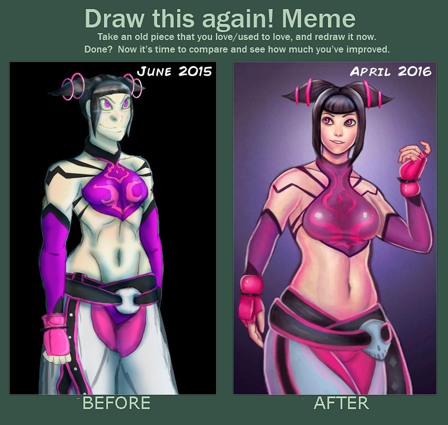 Draw This Again Meme: Juri by ROGUEKELSEY