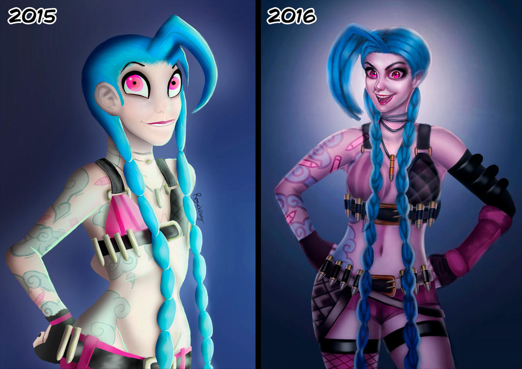 Draw This Again Meme: Jinx by ROGUEKELSEY