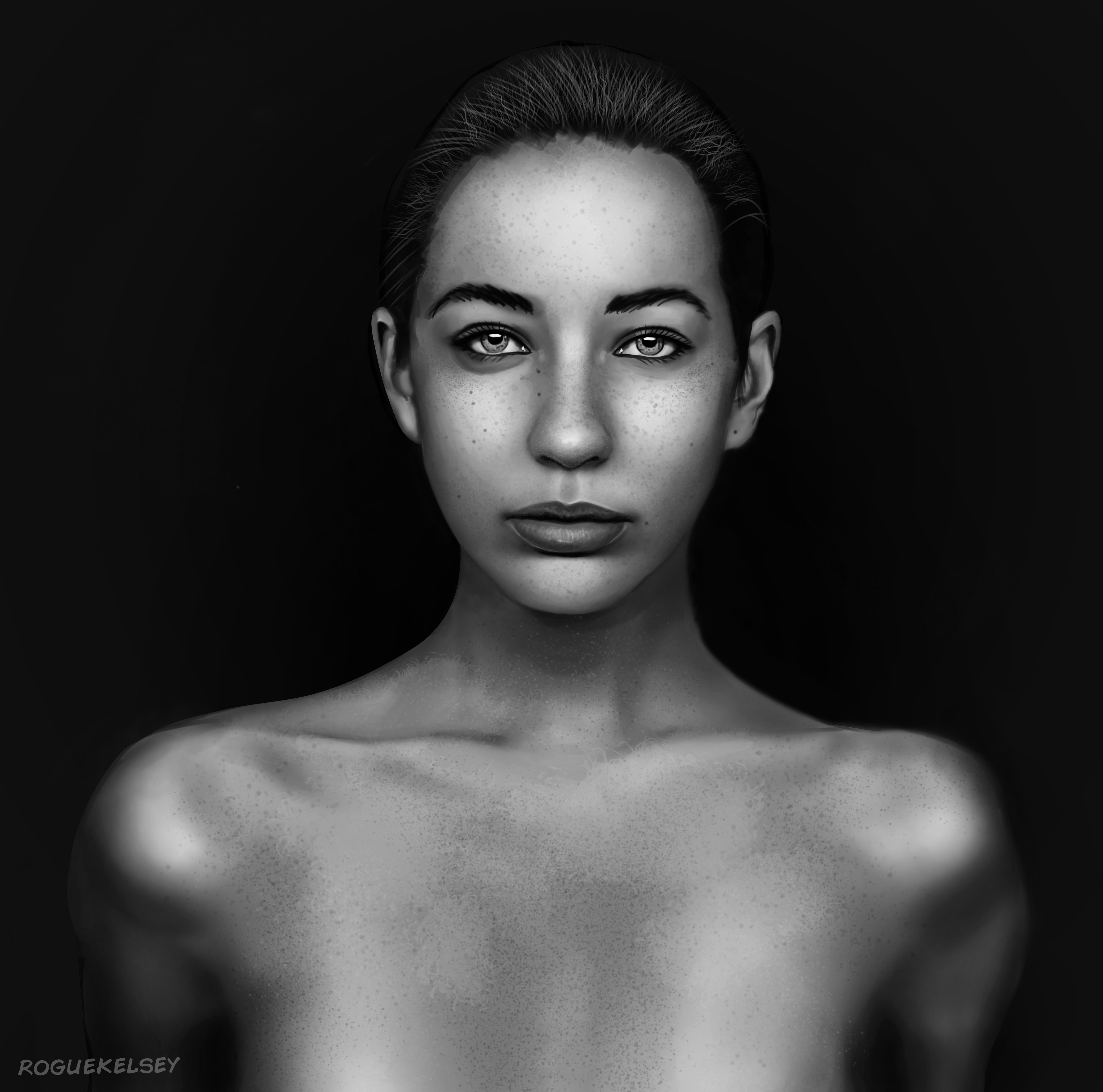 Portrait Study by ROGUEKELSEY