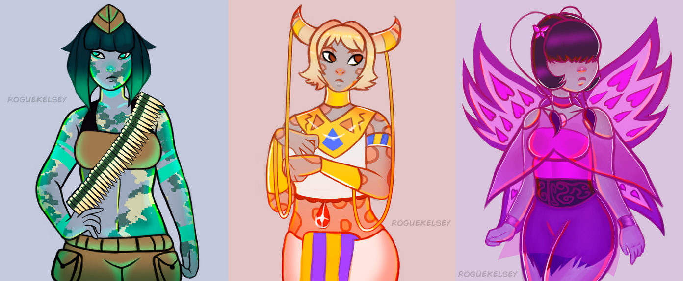 Gems + Neopets Brush Requests by ROGUEKELSEY