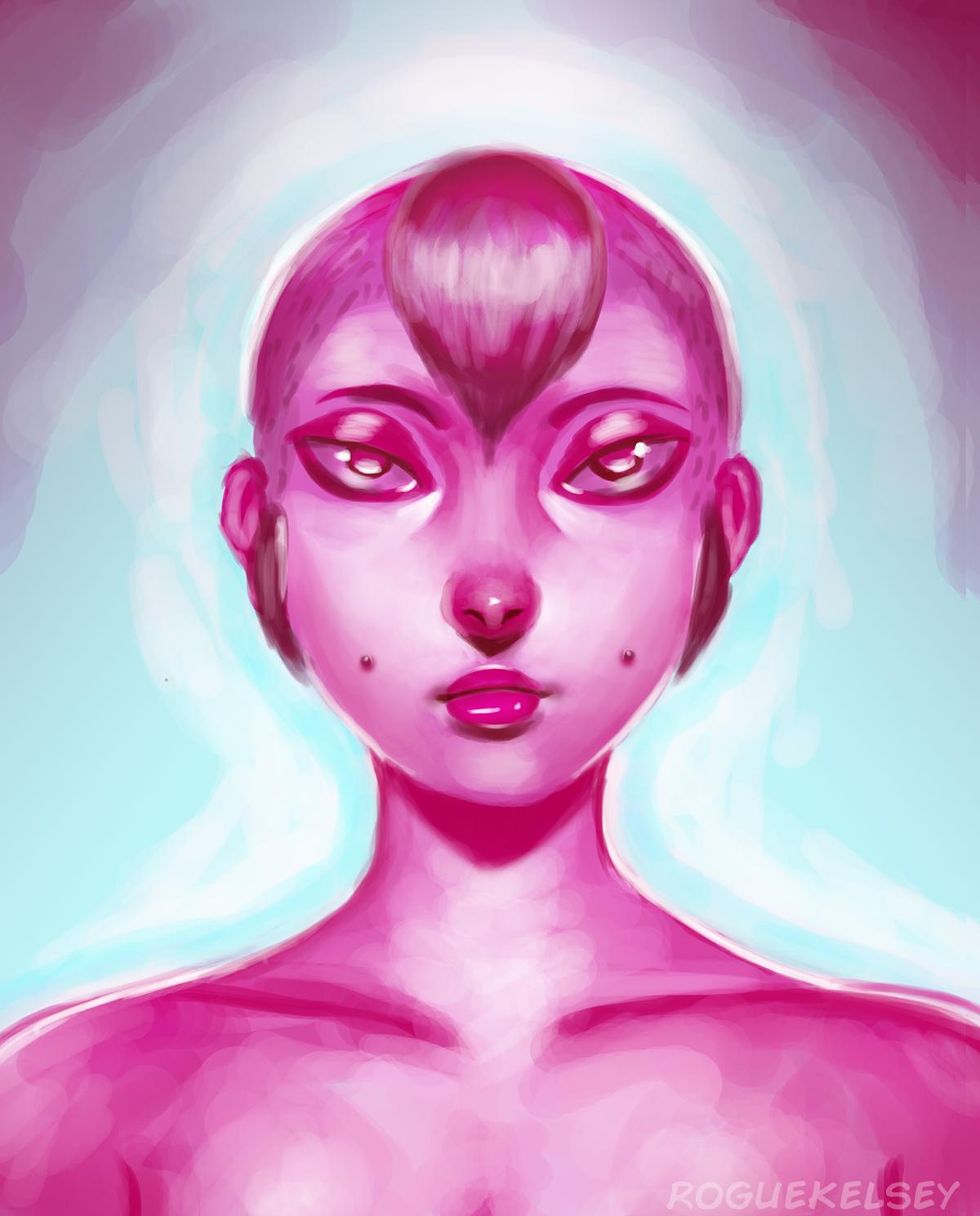 Another Pink Portrait (Speedpaint) by ROGUEKELSEY