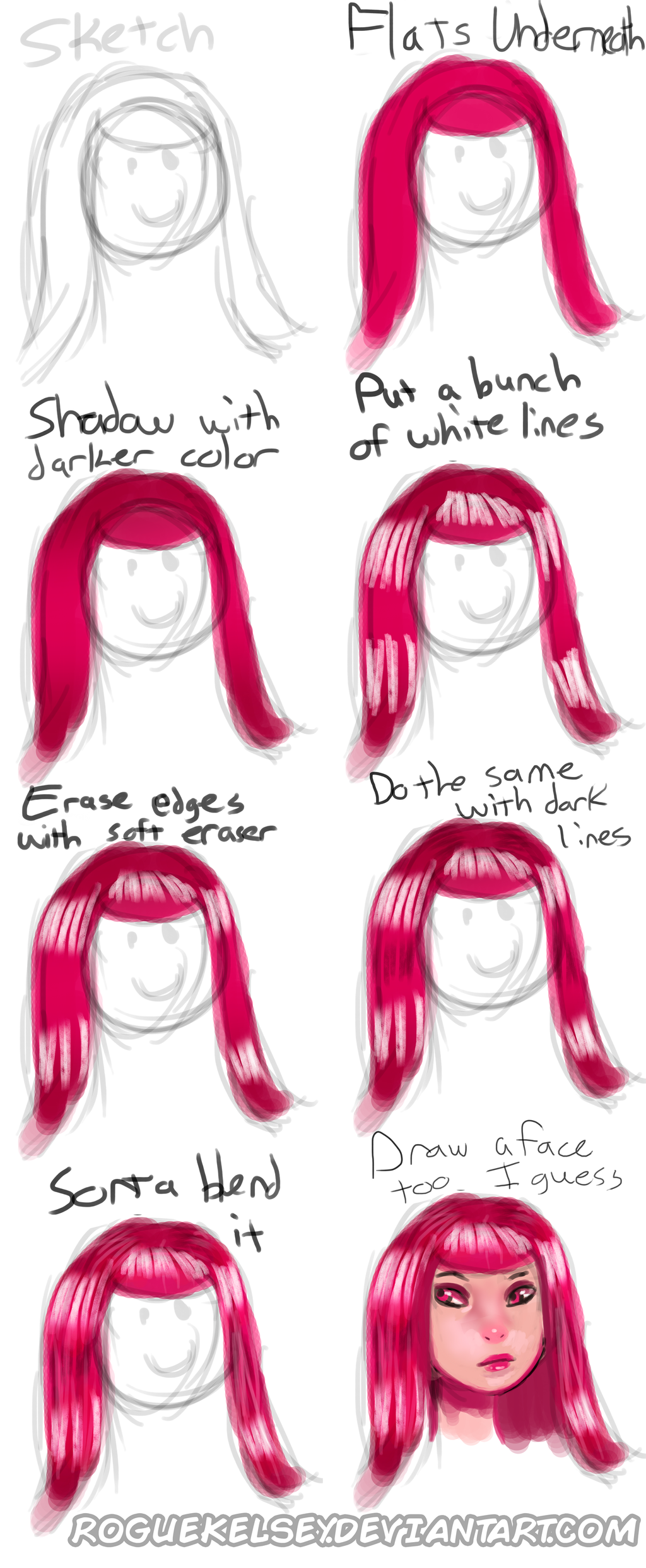 Quick Hair Tutorial by ROGUEKELSEY
