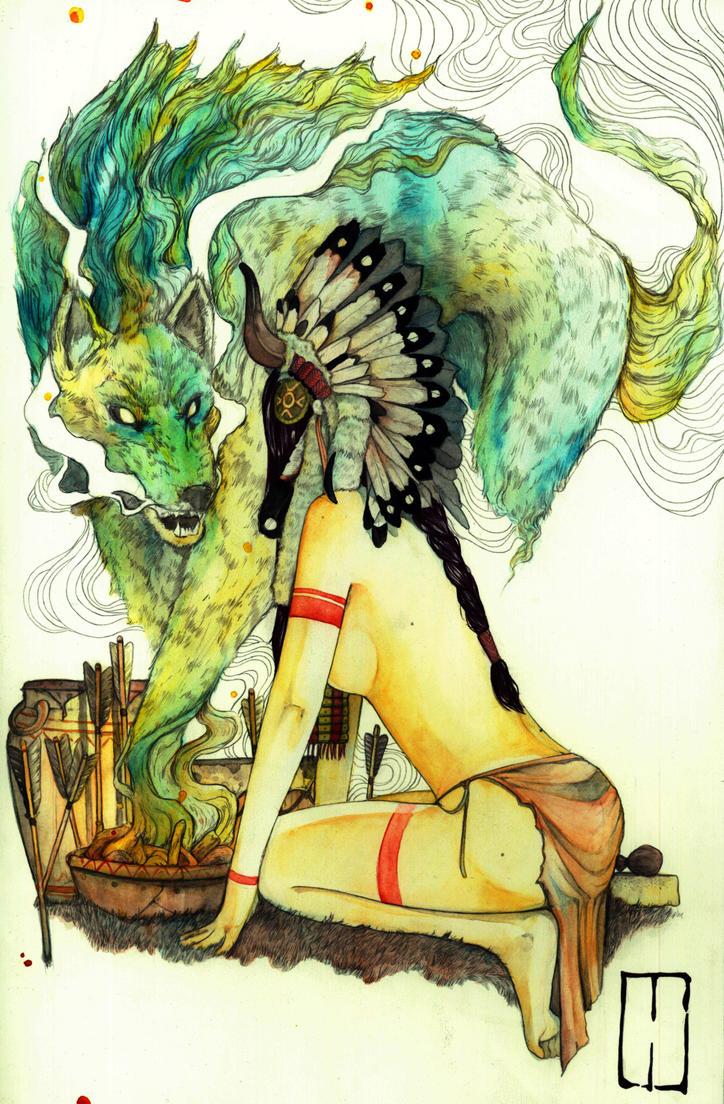 WOLF TOTTEM by Agarwen