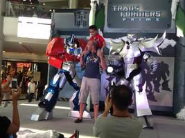 Optimus Prime and Megatron TFP Cosplay by Darkgodmaru