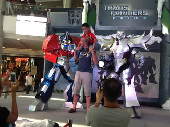 Optimus Prime and Megatron TFP Cosplay