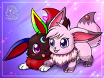 [Commission] Eevee couple by Veemonsito