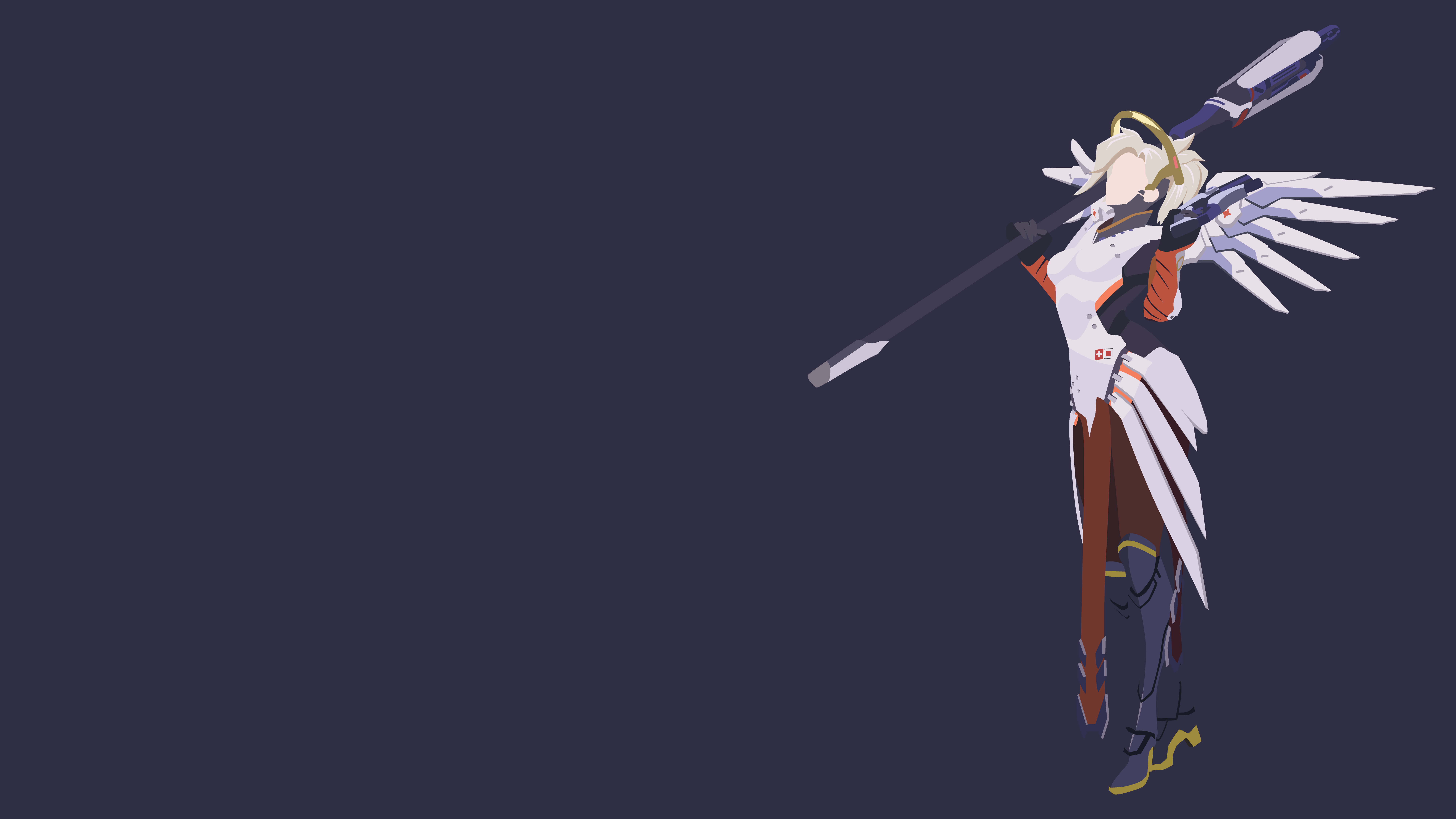 Mercy Minimalistic Wallpaper (1920x1080) By Sohka217 On