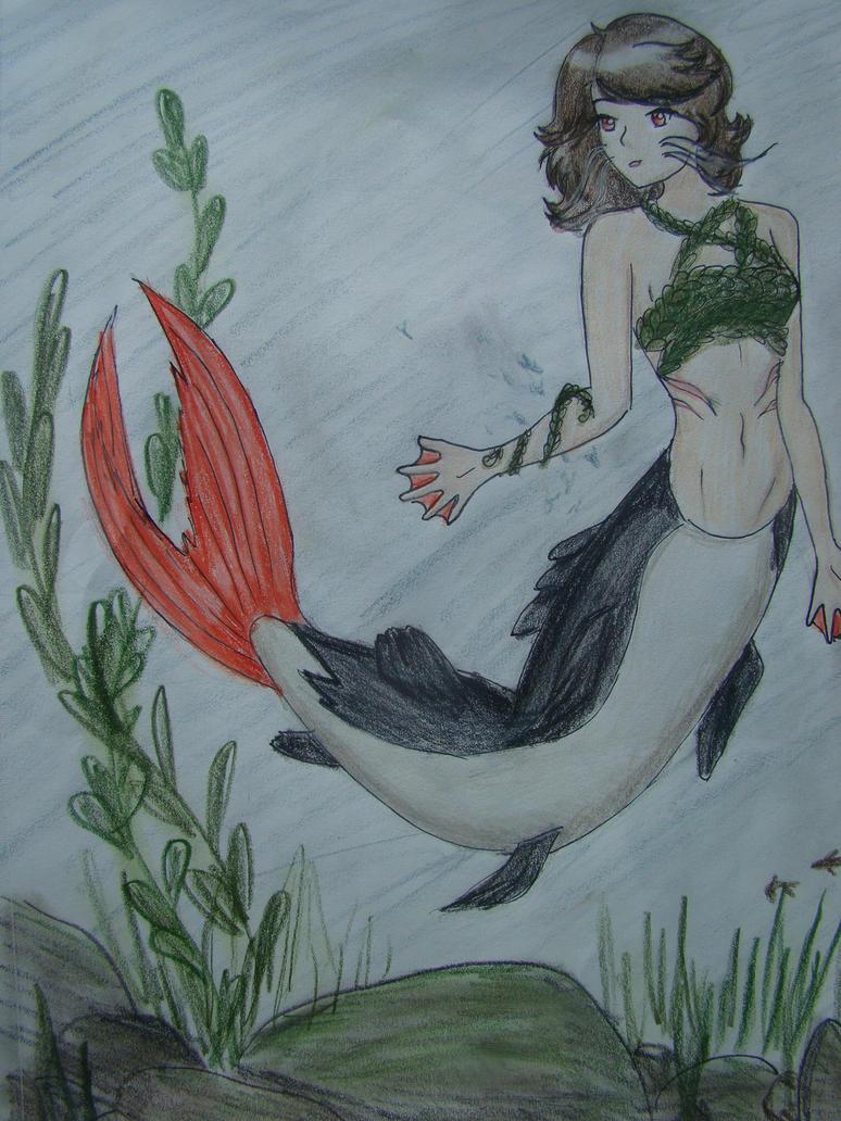 catfish mermaid by oreocookie3344