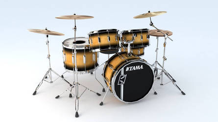 TAMA Drum kit 3D model by aarongraphics