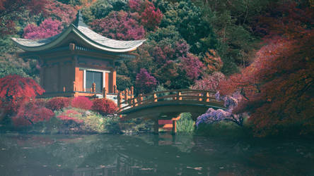 Japanese temple by aarongraphics