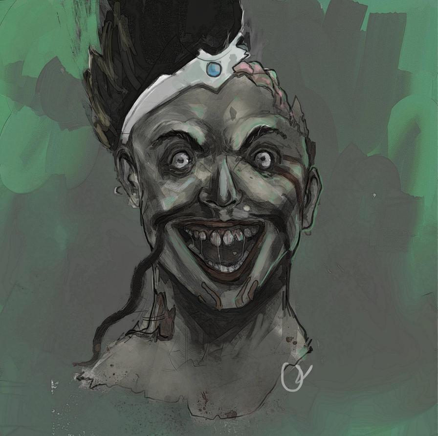 zombie draven portrait by oznasl