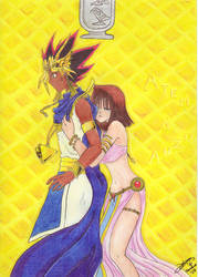 Anzu and Atem by LolipopoO