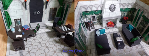 Slytherin common room 3/8 - the inside part 2 by Iveyn-Adler