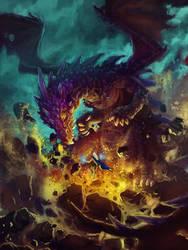 Purple Dragon by c-a-s