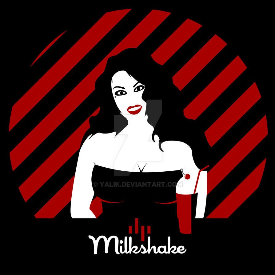 Milkshake - Minimalist Poster Inspired by 1950's by yalik