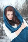 Winter portrait 3 - female stock