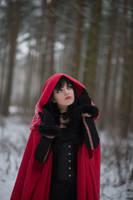 Red Riding Hood 4 - female stock by Dea-Vesta