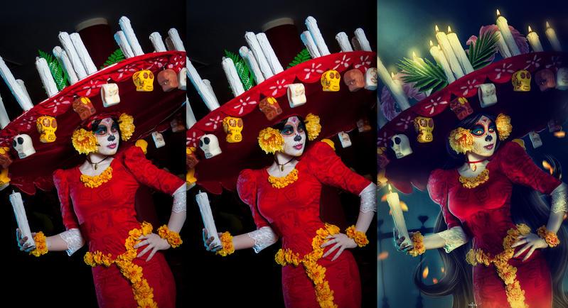 La Muerte - Before and After by Dea-Vesta